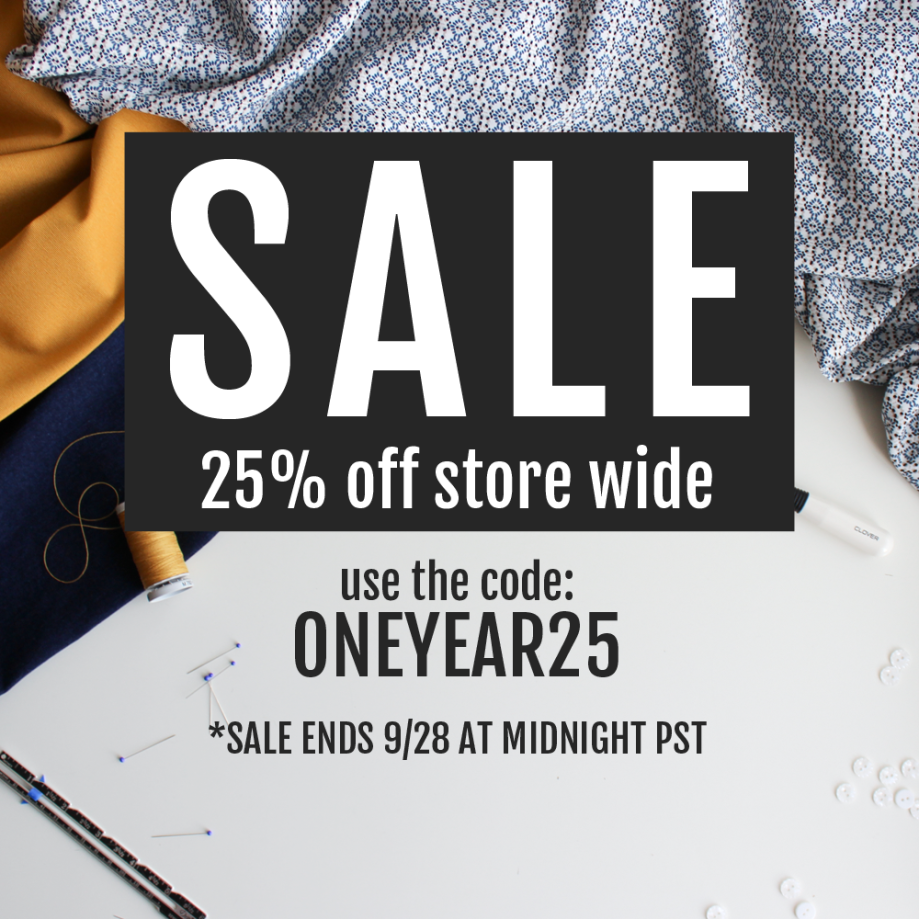 One Year Sale 25